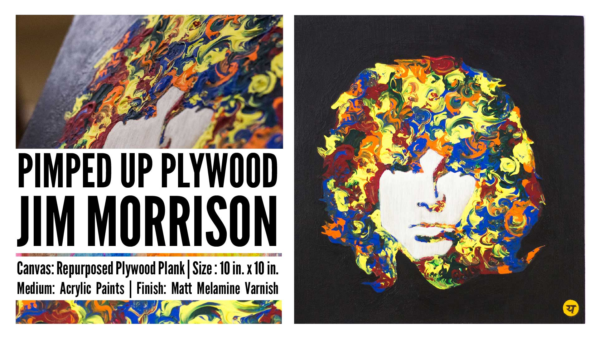 Jim Morrison on Upcycled Plywood