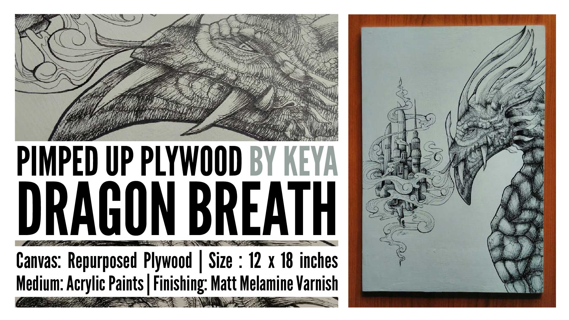 Dragon Breath – Upcycled Plywood